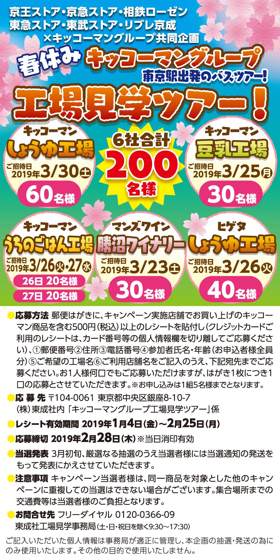 私鉄グループ(東武ストア)×キッコーマングループ 工場見学ツアー
