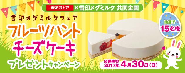 雪印メグミルク フルーツハントチーズケーキプレゼントキャンペーン